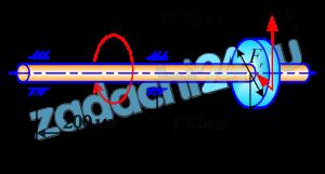Для стального вала постоянного поперечного сечения с одним зубчатым колесом (рис.37), передающего мощность Р (кВт) при угловой скорости ω1 (рад/c) (числовые значения этих величин для своего варианта взять из табл.22):  а) определить вертикальные и горизонтальные составляющие реакции подшипников;  б) построить эпюру крутящих моментов;  в) построить эпюры изгибающих моментов в вертикальной и горизонтальной плоскостях;  г) определить диаметр вала, приняв [σ]=60 Н/мм² (в задаче 117) и полагая Fr=0,4Ft. В задаче 117 расчет производить по гипотезе наибольших касательных напряжений.