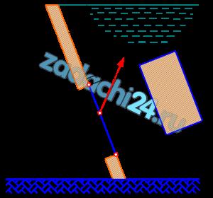Прямоугольный щит размером b×h закрывает отверстие в плоской стенке. Определить минимально необходимое натяжение T каната и реакцию R на оси поворота O щита. Построить эпюру избыточного давления воды на щит OA. Исходные данные приведены в таблице.