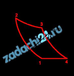 Для цикла, изображенного в р-υ координатах  Требуется определить:  а) параметры  р, υ, Т в характерных точках цикла;  б) работу l, изменения: внутренней энергии Δu, энтальпии Δh, энтропии Δs рабочего тела во всех процессах цикла;  в) теплоту q всех процессов цикла;  г) термический КПД цикла и термический КПД цикла Карно ηtK, построенного в том же интервале температур.  Полученные данные поместить в таблицы.  Построить цикл в р-υ и T-s координатах в масштабе с расчетом параметров процессов в 2-3 промежуточных точках.