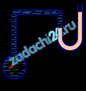 Определить, на какой высоте z установится уровень ртути в пьезометре, если при манометрическом давлении по центру маслопровода рм и показании h система находится в равновесии (рис. 8).