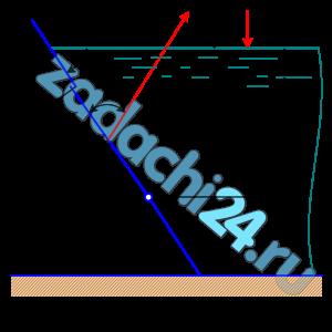 Квадратное отверстие со сторонами а, в наклонной стенке резервуара с водой, закрыто поворотным щитом. Определить силу натяжения каната Т. Численные значения величин приведены в таблице 1.4