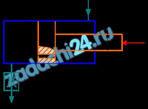 Жидкость с плотностью ρ=850 кг/м³ подается от насоса в гидроцилиндр, а затем через отверстие в поршне площадью S0=5 мм² и гидродроссель Д в бак (рб=0). 1) Определить, при какой площади проходного сечения дросселя Д поршень будет находиться в неподвижном равновесии под действием силы F=3000 H, если диаметр поршня D=100 мм, диаметр штока dш=80 мм, коэффициент расхода отверстия в поршне μ0=0,8, коэффициент расхода дросселя μдр=0,65, давление насоса рн=1 МПа. 2) Определить площадь проходного сечения дросселя Д, при которой поршень будет перемещаться со скоростью υп=1 см/c вправо.