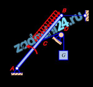 Определить реакции связей балки АВ (рисунок 1).