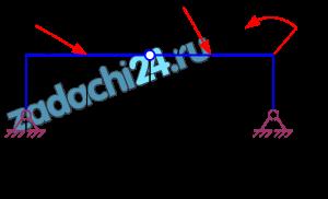 Равновесие системы сил  Два тела связаны промежуточным шарниром и нагружены заданными нагрузками F, P, M. Определить реакции связей и реакции в промежуточном шарнире. Схемы заданий приведены на рис. 20. Для всех вариантов F=8 кН, Р=6 кН, М=4 кН·м, а=0,5 м, α=30º, β=60º.