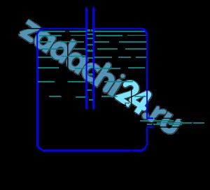 «Сосуд Мариотта» представляет собой плотно закрытый сосуд, в крышке которого укреплена трубка, сообщающая сосуд с атмосферой. Трубка может быть укреплена на различной высоте. В стенке сосуда имеется отверстие диаметром d0=10 мм, через которое происходит истечение в атмосферу. Какое давление установится в сосуде на уровне нижнего обреза трубки при истечении? Определить скорость истечения и время опорожнения «сосуда Мариотта» от верха до нижнего обреза трубки. Объемом жидкости в трубке и сопротивлением при истечении пренебречь (ε=1). Форма сосуда цилиндрическая, D=100 мм; Н=2 м, h1=0,2 м, h2=1 м.