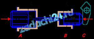В системе дистанционного гидроуправления необходимо обеспечить ход l2 поршня B равным ходу l1 поршня A, т. е. l1=l2=l=32 мм. Поршень В диаметром d=20 мм должен действовать на рычаг С с силой F2=8 кН. Цилиндры и трубопровод заполнены маслом с модулем упругости К=1400 МПа. Объем масла, залитого при атмосферном давлении, V=700 см³. Определить диаметр D поршня A и силу F1, приложенную к поршню A. Упругостью стенок цилиндров и трубок, а также силами трения поршней о стенки цилиндров пренебречь.