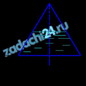 Определить уклон дна водосточной трубы (рис. 11.9), если сечение трубы - равносторонний треугольник, а=1 м, h=0,75 м, коэффициент шероховатости n=0,013. Расход воды Q=0,5 м³/c.