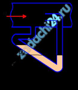 К трубе (рис. 8.18), по которой движутся дымовые газы (ρ=0,6 кг/м³), присоединен микроманометр, заполненный спиртом (ρсп=800 кг/м³). Показание шкалы манометра, наклоненной под углом α=30º к горизонту, l=115 мм. Определить скорость движения дымовых газов.