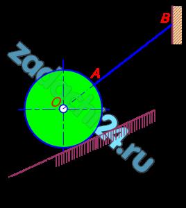Определить реакции связей, удерживающих узел С (шарнир С) или абсолютно твердое тело (однородный диск) в состоянии равновесия. Сила тяжести диска или подвешенного груза, или приложенные силы приведены в таблице исходных данных. Груз G или G1 повешен на канате, перекинутом через блок D.
